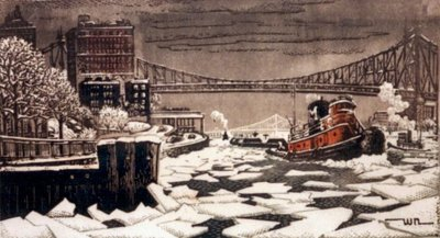 Ice Floats on the East River