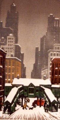 EL Station In Snow