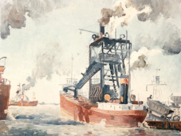 Cleveland Harbour (Ore Boats)