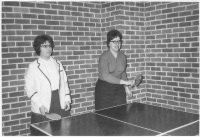 Waterloo Lutheran University students playing ping pong
