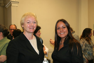 Sharon Brown and a woman at Laurier Brantford event