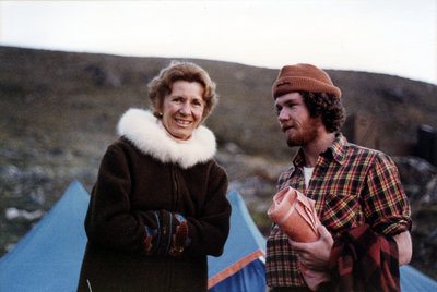 Marie Sanderson and a man in Nunavut