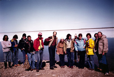 Marie Sanderson with research and field work team, Igloolik