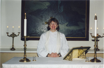 Rev. Shirley Ruller at St. Timothy's Lutheran Church, Copper Cliff, Ontario