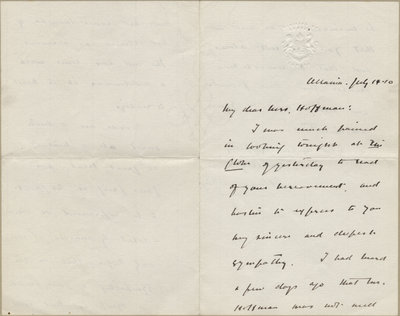 Letter from William Lyon Mackenzie King to Mrs. C. E. Hoffman, July 14, 1910