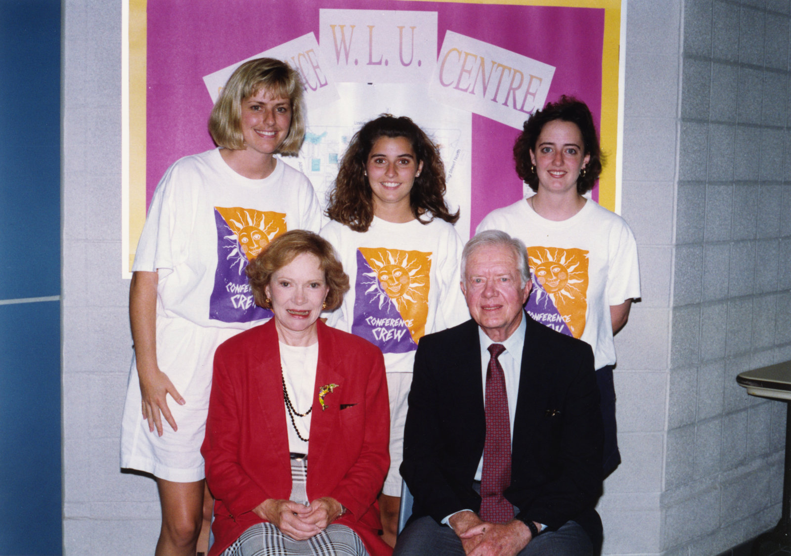 President Jimmy Carter and First Lady Rosalynn Carter at Wilfrid Laurier University, 1993