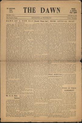 The Dawn - Vol. 1, no. 2, 25 January 1934