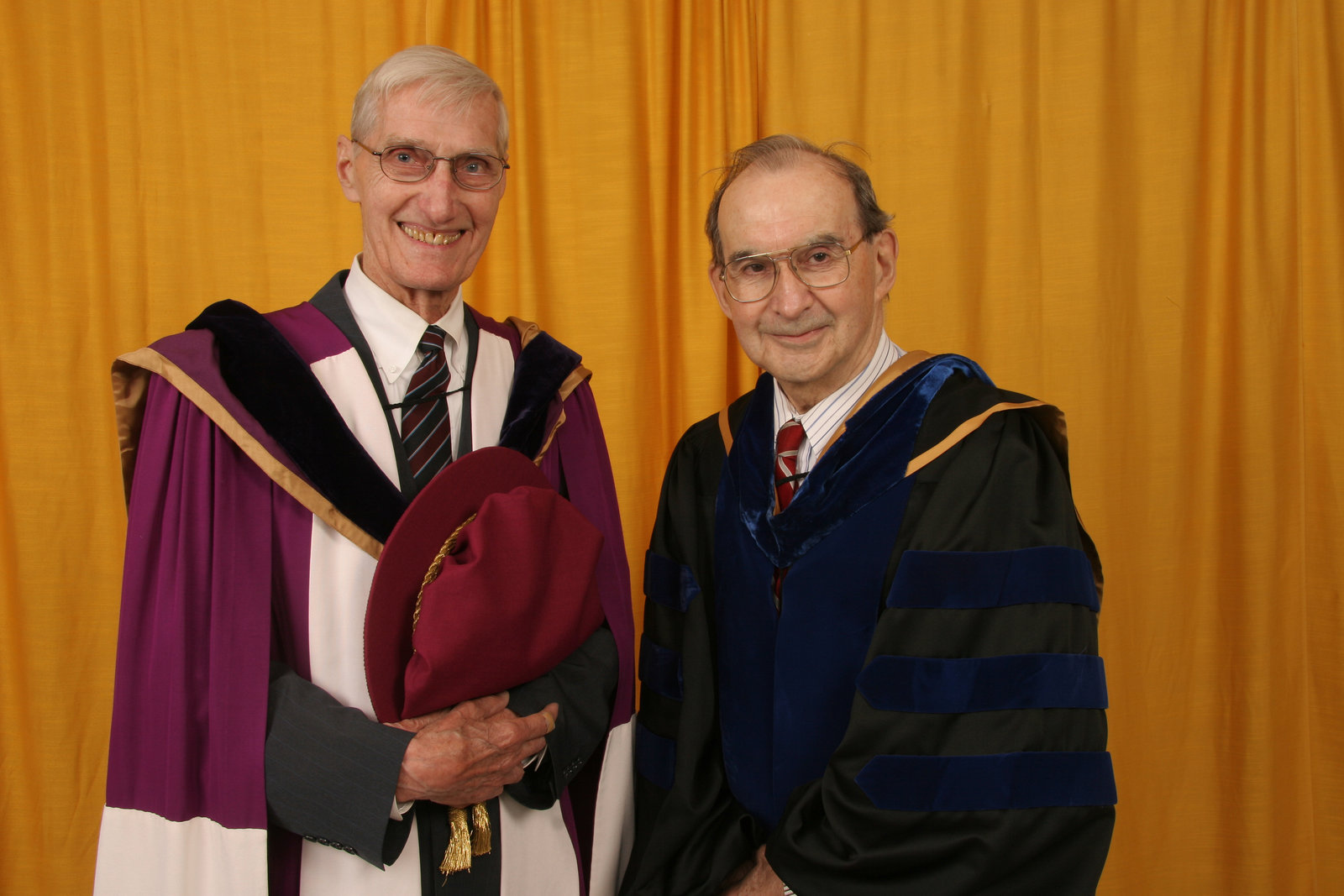 Don Morgenson and John Weir, Wilfrid Laurier University spring convocation, 2006