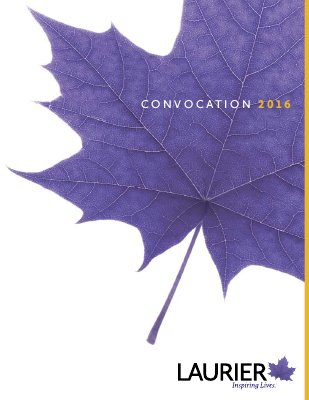 Wilfrid Laurier University fall convocation program, 2016