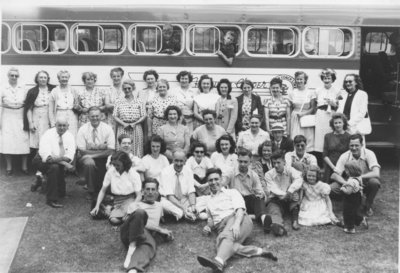 St. Peter's Lutheran Church Choir picnic, 1947