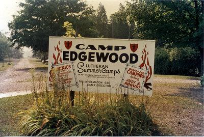 Camp Edgewood sign