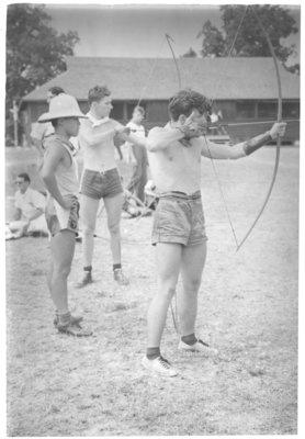 Archery, Boys Camp at Fisher's Glen