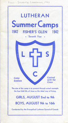 Lutheran Summer Camps : Fisher's Glen, 1942
