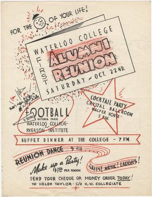 Waterloo College Alumni Reunion, 1955