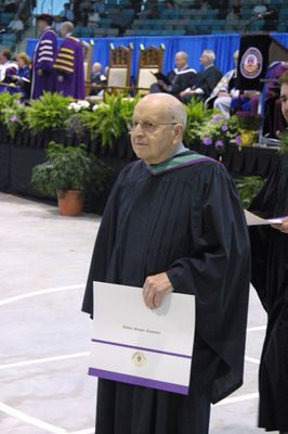 Wilfred Tschirhart at Spring Convocation 2002