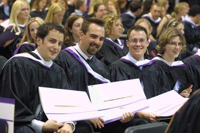 Graduating students at Spring Convocation 2002