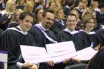 Graduating students at Spring Convocation 2002