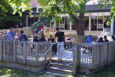 The deck outside concourse, 2003