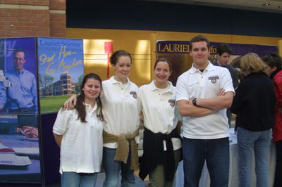 Science display at Laurier Day, 2002