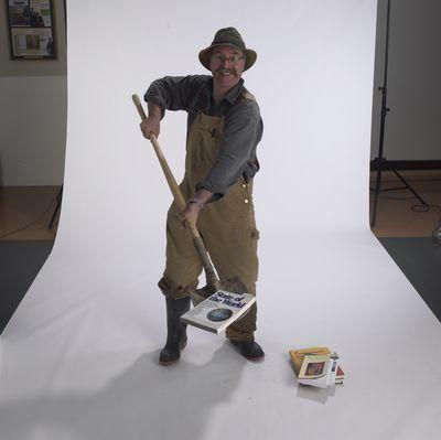 Robert Feagan posing Laurier Brantford, 2002