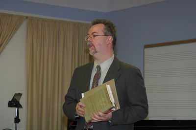 Charles Morrison in lecture, 2004