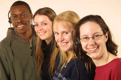 Group of telemarketer students, 2004