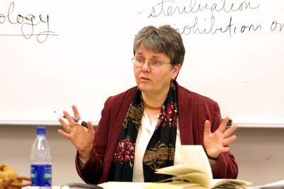 Rhoda Howard-Hassmann in classroom, 2004