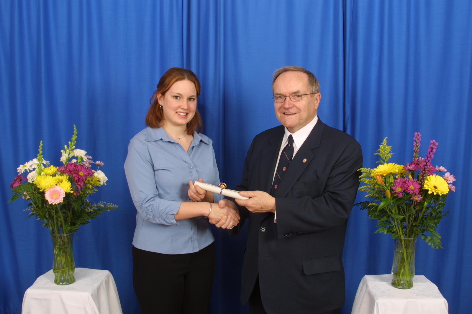Robert Rosehart and student at Arts Awards, 2004