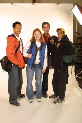 Group of students posing for photo, 2004
