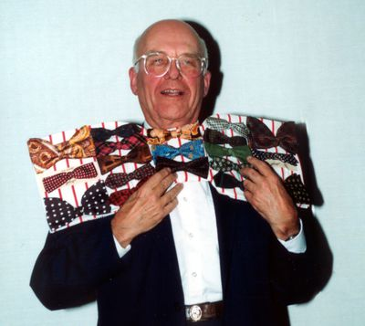 Max Stewart at bow tie evening event