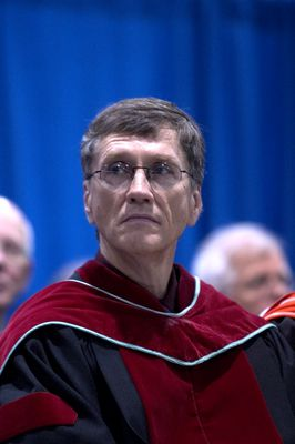 Geoffery Nelson at fall convocation, 2004