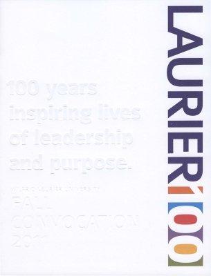 Wilfrid Laurier University fall convocation program, 2011