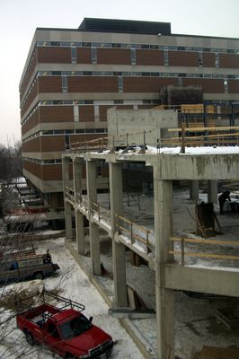 Construction of Schlegel Centre, 2002