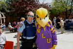 Golden Hawk mascot and special constable Jim McInnes, 2006