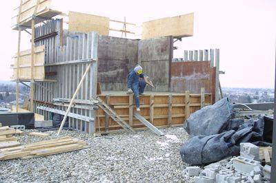 Library elevator shaft construction, 2002