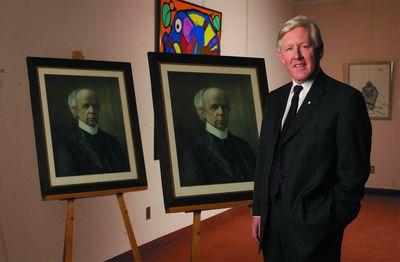 Bob Rae and Sir Wilfrid Laurier portraits, 2004