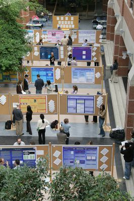 Psychology graduate student posters in Science Building, 2005