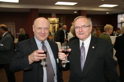 Art Szabo and Robert Rosehart at Faculty of Social Work Kitchener anniversary, 2006