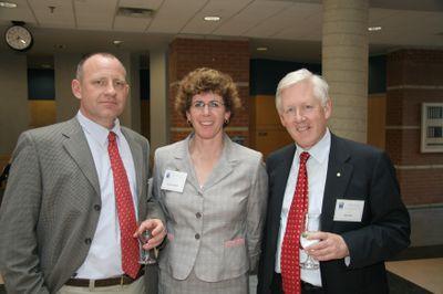 David Docherty, Sarah Bradshaw and Bob Rae at Laurier Society dinner, 2006
