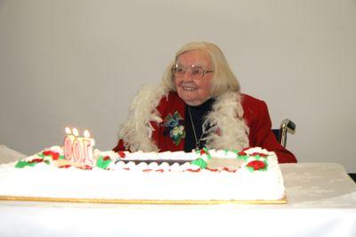 Edna Stabeler at 100th birthday celebration, 2006