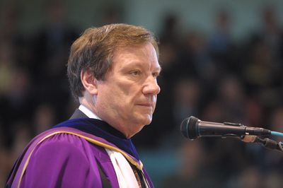 Donald Campbell at spring convocation, 2003