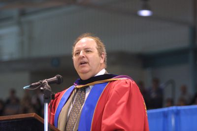 Thomas Axworthy at Wilfrid Laurier University spring convocation, 2003