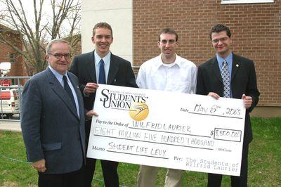 Wilfrid Laurier University Students' Union donation, 2003