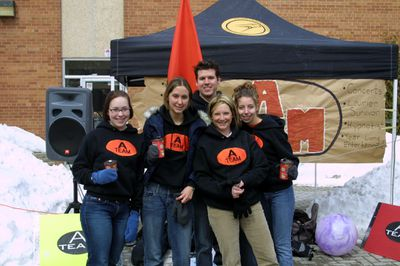 A-Team at Wilfrid Laurier University spring open house, 2003