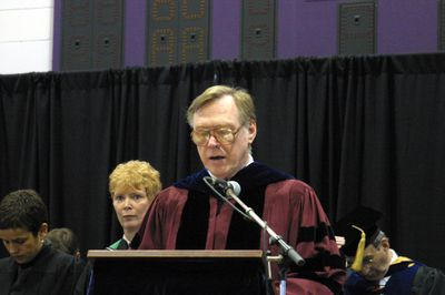 Richard Crossman at fall convocation, 2002