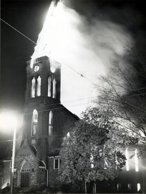 Fire at St. John's Lutheran Church, Waterloo, Ontario