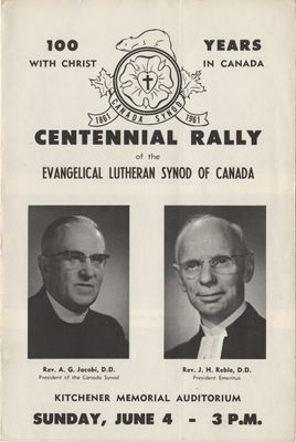 Centennial Rally of the Evangelical Lutheran Synod of Canada
