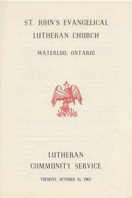 Lutheran Community Service : St. John's Lutheran Church, October 16, 1962