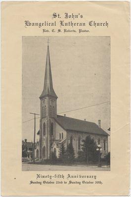 St. John's Evangelical Lutheran Church : ninety-fifth anniversary, 1932
