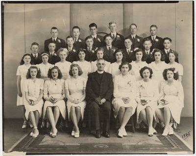St. John's Lutheran Church confirmation class, 1945